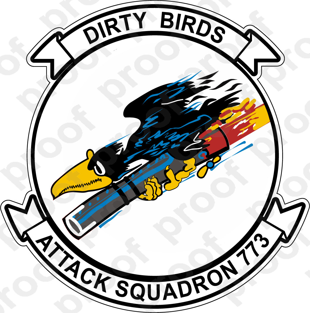 Sticker Usnr Va 773 Dirty Birds M C Graphic Decals