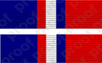 STICKER MILITARY RIBBON KOSOVO SERVICE