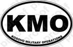 STICKER MILITARY KOSOVO VETERAN KMO BW