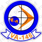 STICKER USN VA 146 BLUE DIAMONDS