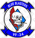 STICKER USN VF  34 BLUE BLASTERS