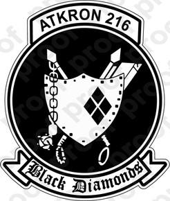 Sticker Usnr Va 216 Black Diamonds M C Graphic Decals