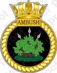 British Navy HMS Ambush Sticker