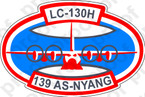 STICKER USAF 139TH AIRLIFT SQUADRON