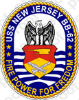 STICKER USN US NAVY BB 62 USS NEW JERSEY