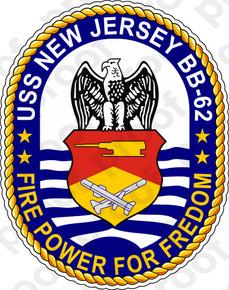 STICKER USN US NAVY BB 62 USS NEW JERSEY - M.C. Graphic Decals