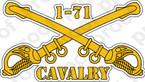 STICKER U S ARMY BADGE Cavalry Sabers 1-71