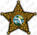 STICKER SHERIFF HILLSBOROUGH  COUNTY BRZ