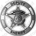 STICKER CIVIL BERRIEN COUNTY SHERIFF BADGE SILVER