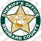 STICKER POLICE BROWARD SHERIFF OFFICE