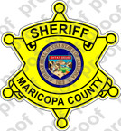 STICKER POLICE SHERIFF MARICOPA COUNTY