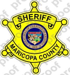 Sticker Police Sheriff Maricopa County M C Graphic Decals