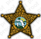 STICKER SHERIFF BROWARD COUNTY BRZ