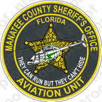 STICKER SHERIFF MANATEE COUNTY AVIATION UNIT
