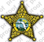 STICKER SHERIFF OSCEOLA COUNTY