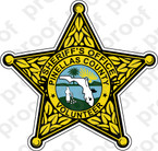 STICKER SHERIFF PINELLAS COUNTY VOLUNTEER