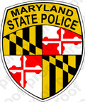 STICKER MARYLAND STATE POLICE
