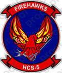 STICKER USN HCS 5 FIREHAWKS