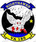 STICKER USN VA 185 NIGHTHAWKS