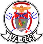 STICKER USN VA 689 REBELS