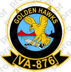 STICKER USN VA 876 GOLDEN HAWKS