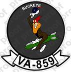 STICKER USN VA 859 BUCKEYE