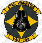 STICKER USN VAQ 209 STAR WARRIORS