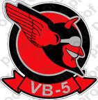 STICKER USN VB 5 BOMBING SQUADRON B