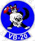 STICKER USN VB 20 BOMBING SQUADRONB