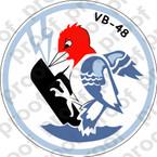 STICKER USN VB 48 BOMBING SQUADRON