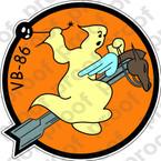 STICKER USN VB 86 BOMBING SQUADRON
