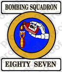 STICKER USN VB 87 BOMBING SQUADRON