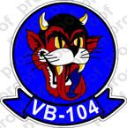 STICKER USN VB 104 BUCCANEERS