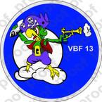 STICKER USN VBF 13 ATTACK BOMBING SQUADRON