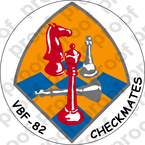 STICKER USN VBF 82 CHECKMATES