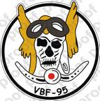 STICKER USN VBF 95 ATTACK BOMBING SQUADRON