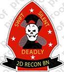 STICKER USMC UNIT   2ND RECONNAISSANCE BN A