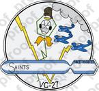 STICKER USN VC 27 SAINTS