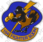 STICKER USAF 104TH FIGHTER SQUADRON A