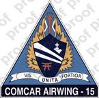 STICKER USN CARRIER AIR WING CVW 15
