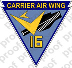 STICKER USN CARRIER AIR WING CVW 16