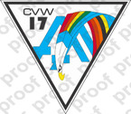 STICKER USN CARRIER AIR WING CVW 17 A