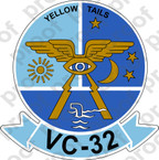 STICKER USN VC 32 YELLOW TAILS