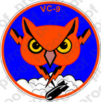 STICKER USN VC 9 FLEET COMPOSITE SQUADRON
