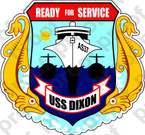 STICKER USN AS 37 USS DIXON