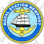 STICKER USN US NAVY STATION NEWPORT