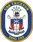 STICKER U.S. Navy USS Truxtun DDG 103 Destroyer Emblem Crest