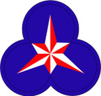 STICKERS US ARMY UNIT 36th CORPS SHIELD