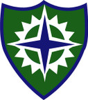 STICKERS US ARMY UNIT 16TH CORPS SHIELD