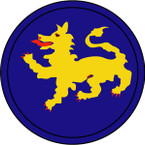 STICKERS US ARMY UNIT 157TH INFANTRY DIV SHIELD COL